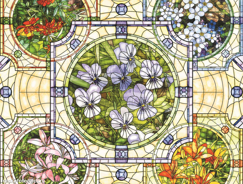 Фотообои «Цветочный мозаичный узор»