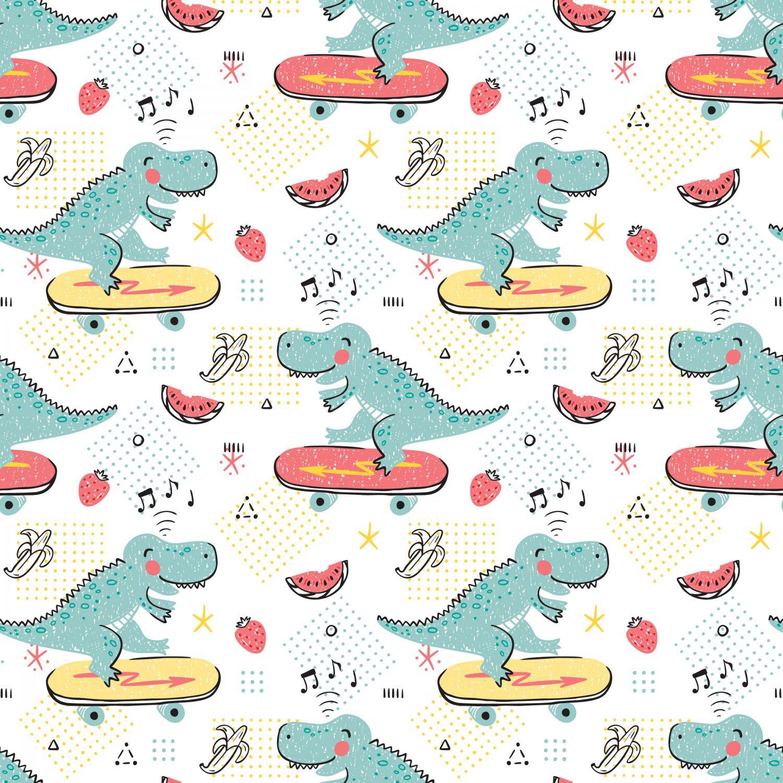 Фотообои «Динозавры на скейтах»