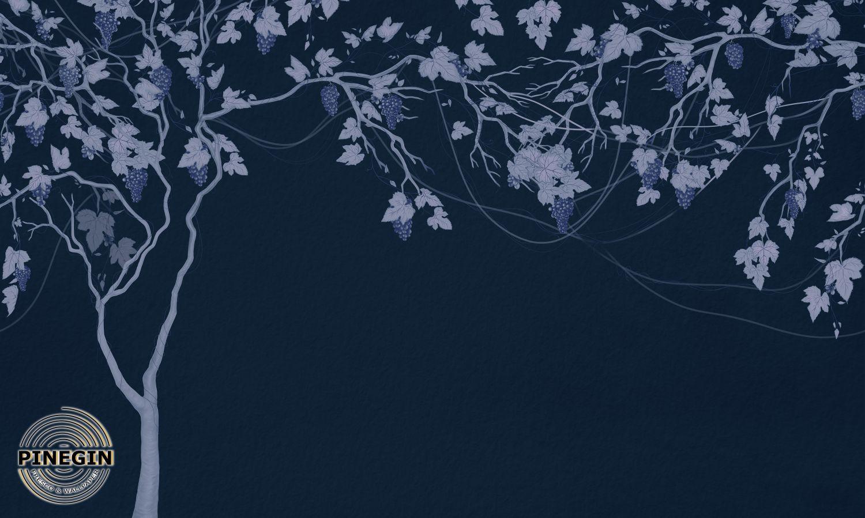 Фотообои «Виноградное дерево на сием фоне»