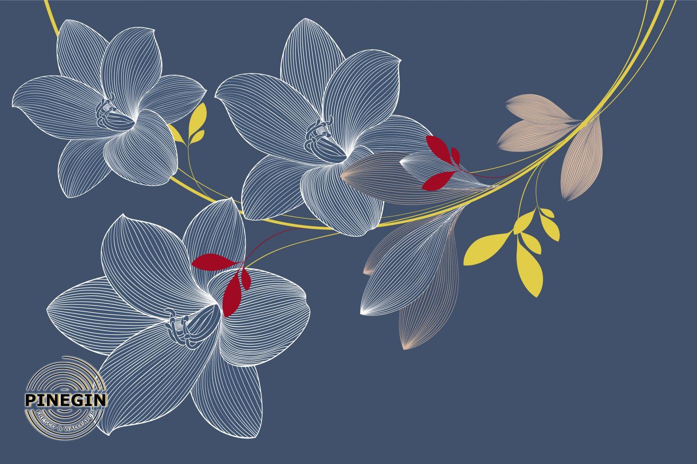 Фотообои «Веточка лилии»