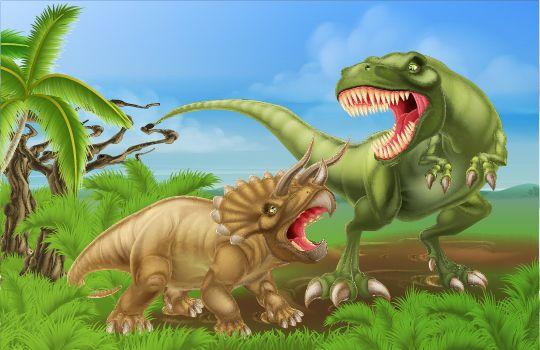 Фрески «Динозавры»