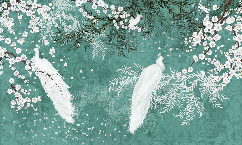 Фотообои «Белые птицы»