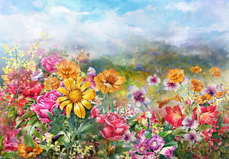 Фотообои «Летние цветы »