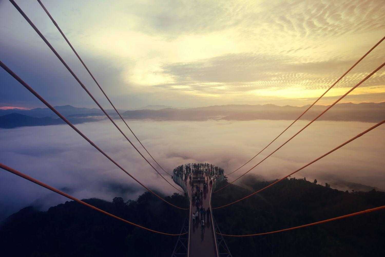 Фотообои «Мосты в тумане 28»
