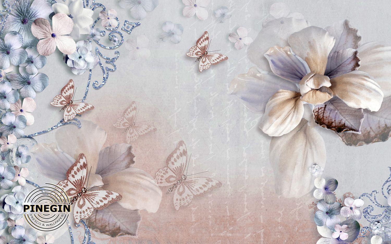 Фотообои «Бабочки винтаж»
