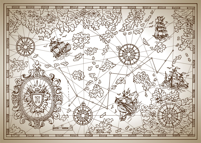 Фрески «Карта старинная 19»