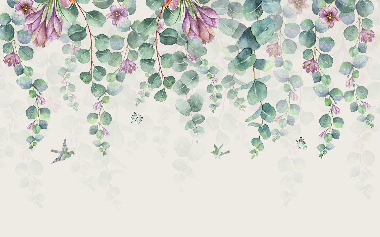 Фотообои «Цветочная стена»