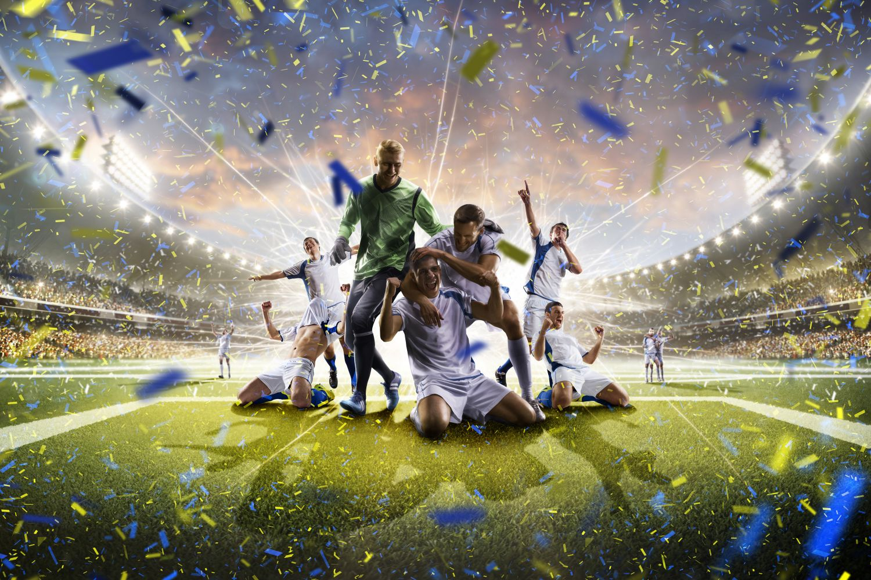 Фотообои «Футбольная победа»