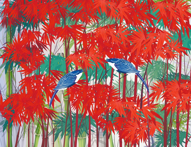 Фотообои «Красные деревья»