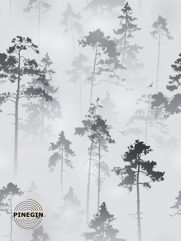 Фотообои «Деревья в тумане»