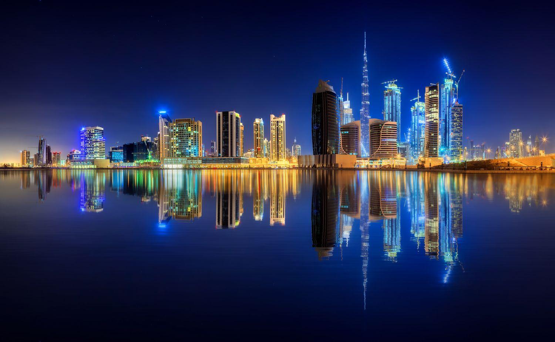 Фотообои «Сияющий город»