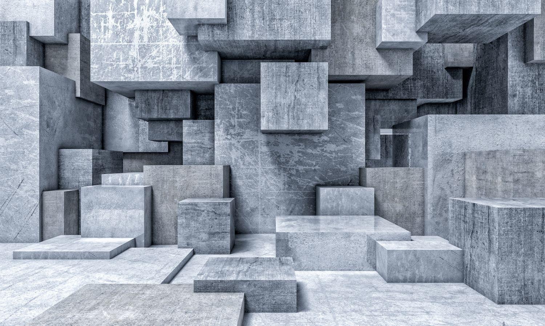 Фотообои «Абстракция из кубов 3D»