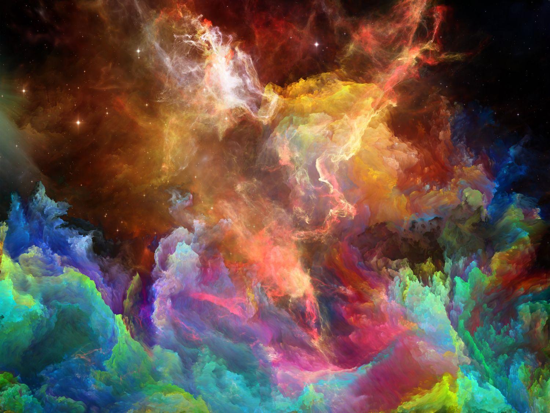 Фотообои «Цветной космос»