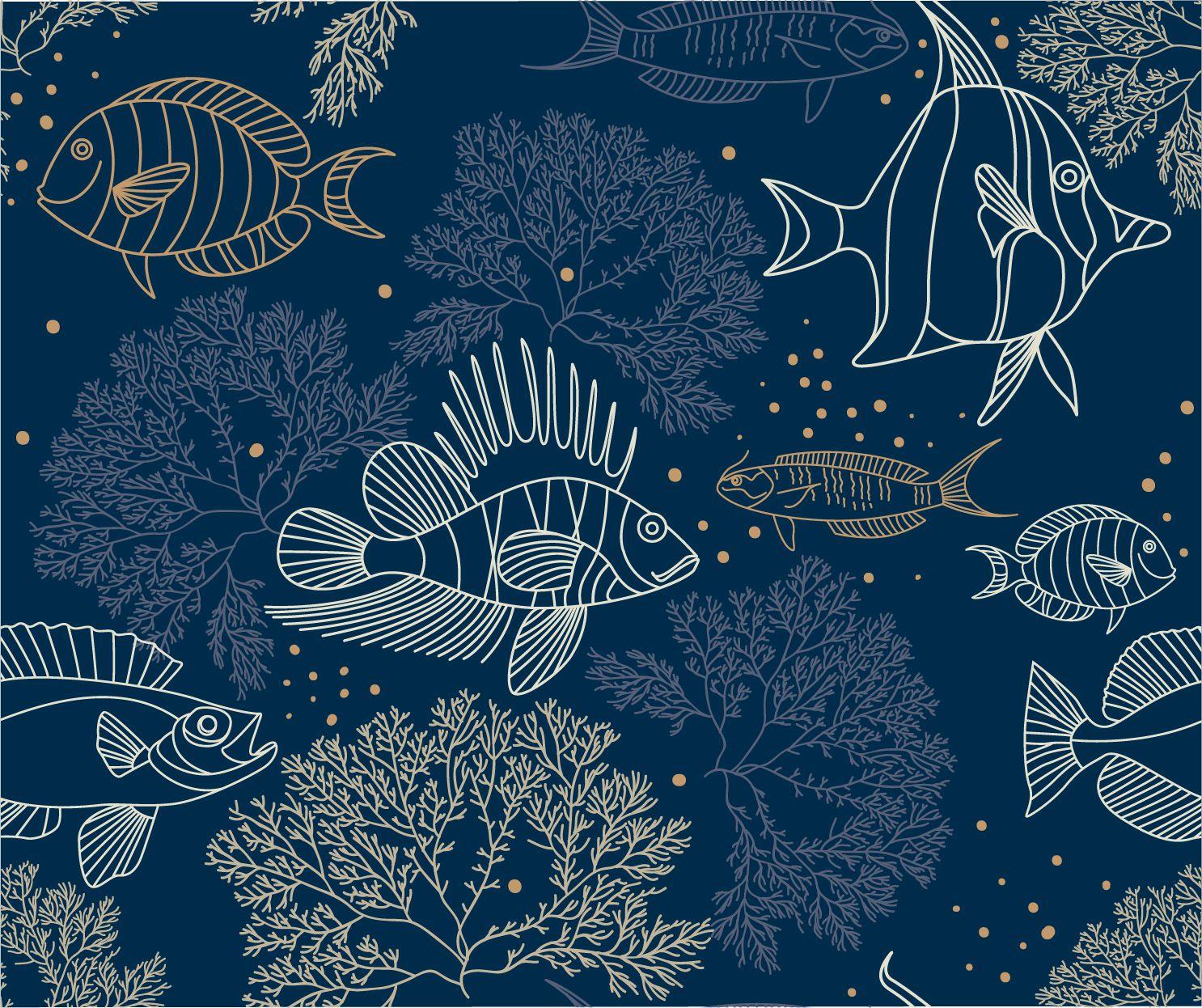 Фотообои «Рыбки и подводные растения»