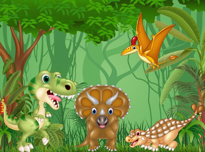 Фотообои «Динозавры для детской комнаты»