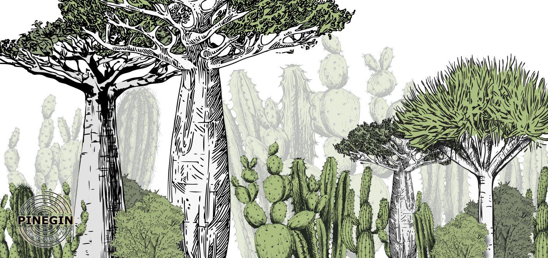 Фотообои «Нарисованный лес»