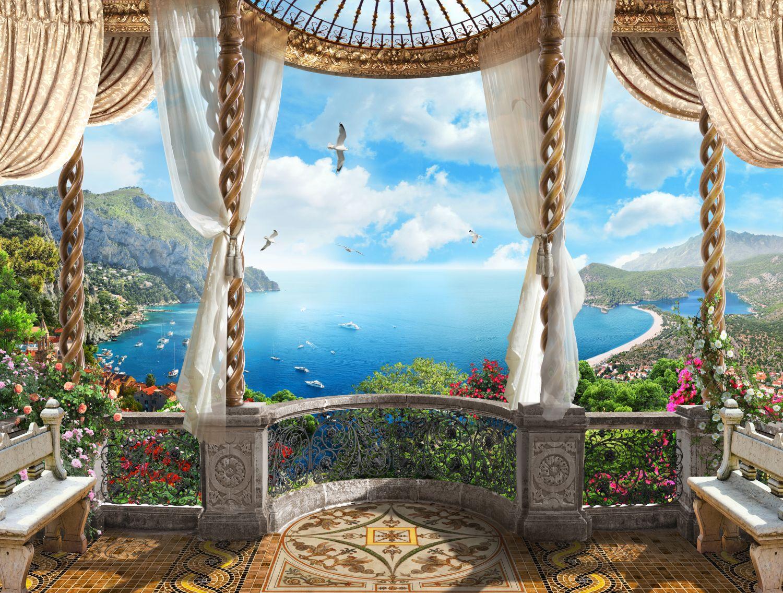 Фрески «Голубое небо и чайки»