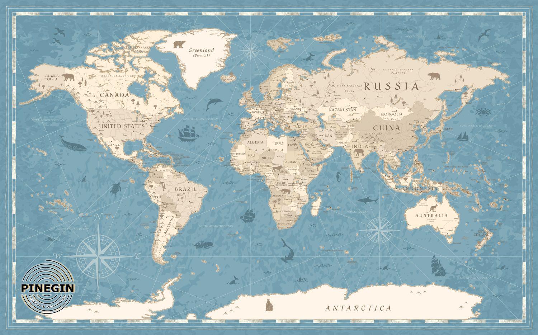 Фотообои «Карта »