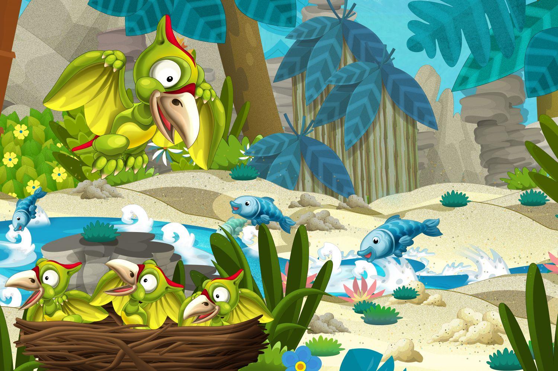 Фрески «Динозавр Птеродактиль рисунок»