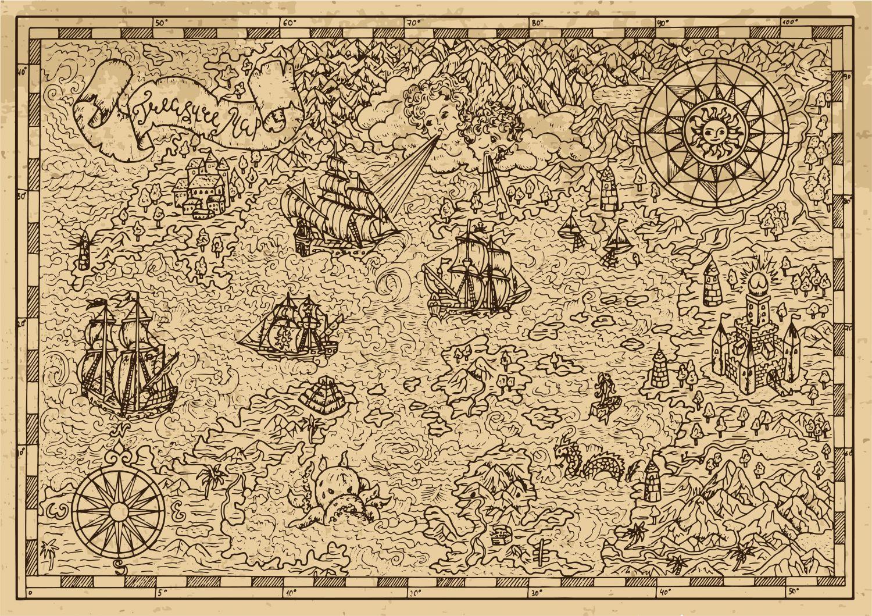Фотообои «Карта старинная 17»