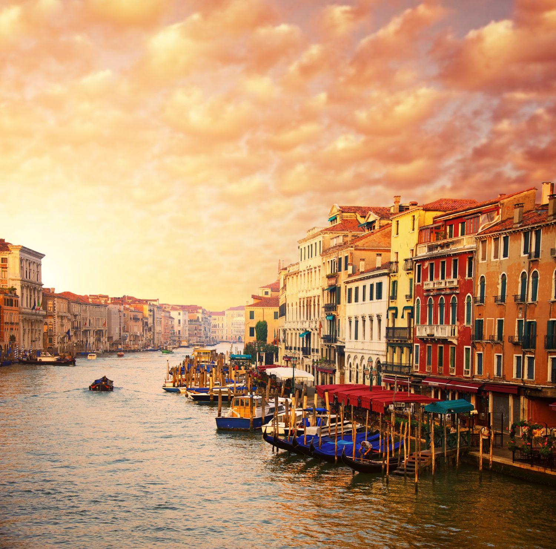 Фотообои «Закат солнца в Венеции »