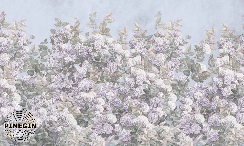 Фотообои «Белая гортензия»