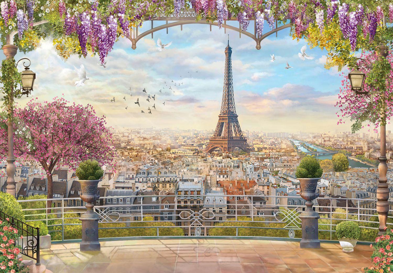 Фотообои «Вид на весенний Париж»