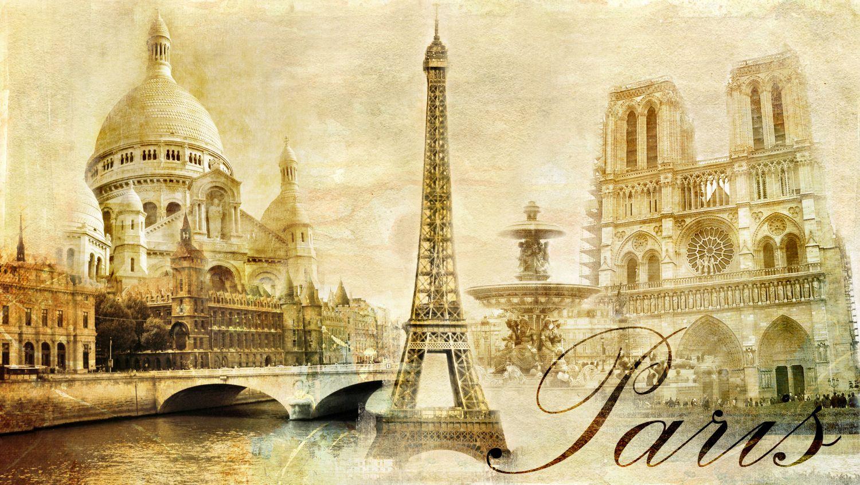 Фотообои «Париж винтажное фото»