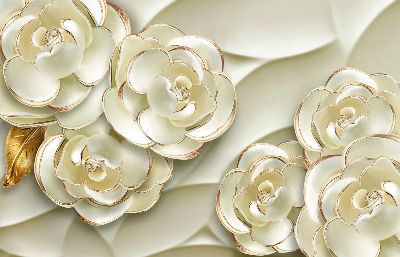 Фотообои «Объемные розы 3D»