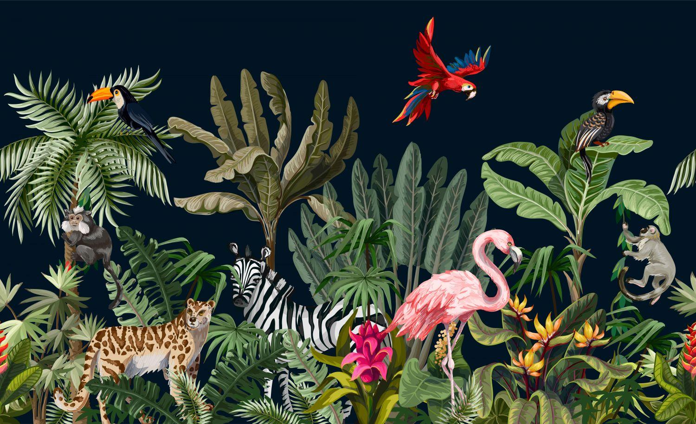 Фотообои «Дикие животные в джунглях»
