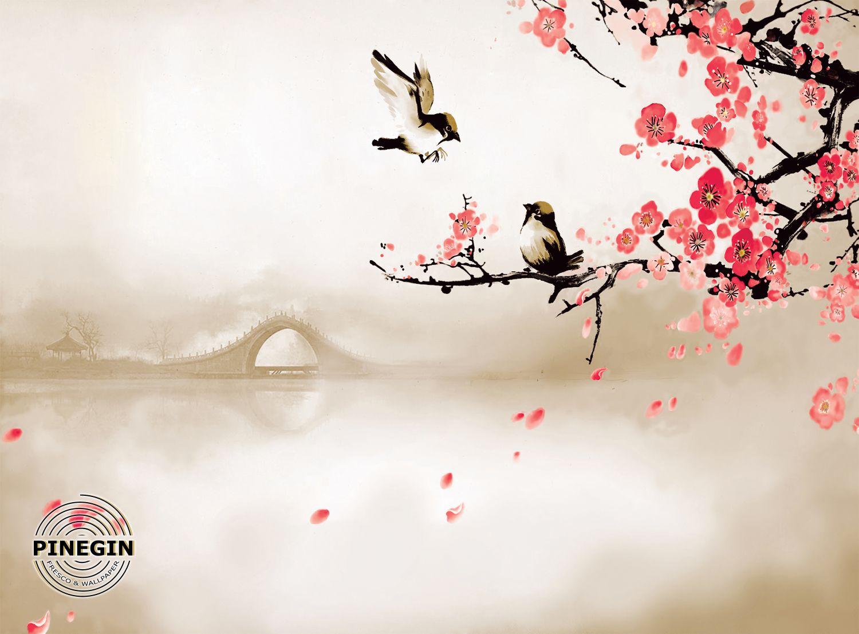 Фотообои «Ветка сакуры»