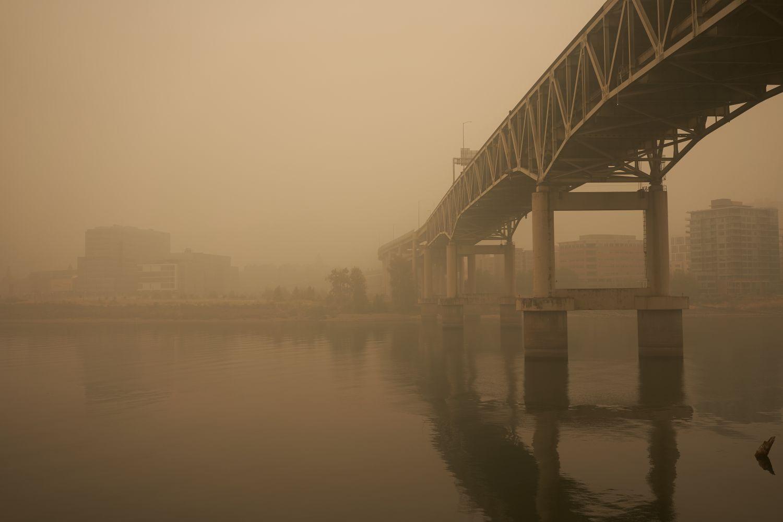 Фотообои «Мосты в тумане 25»