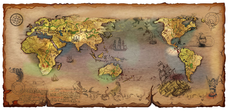 Фотообои «Античная карта»