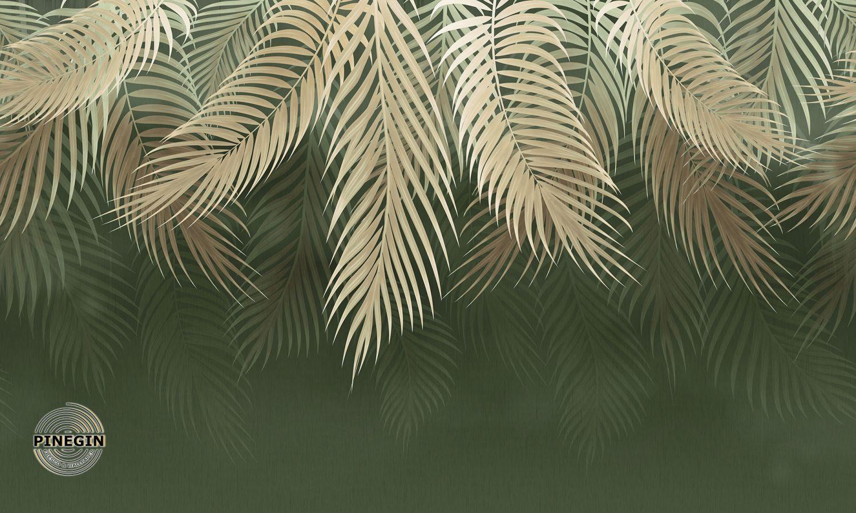 Фотообои «Светло-коричневые пальмовые листья»