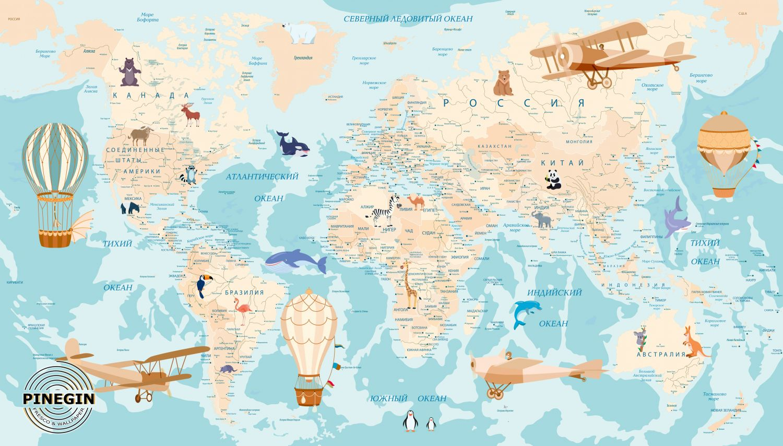 Фотообои «Карта бирюза »