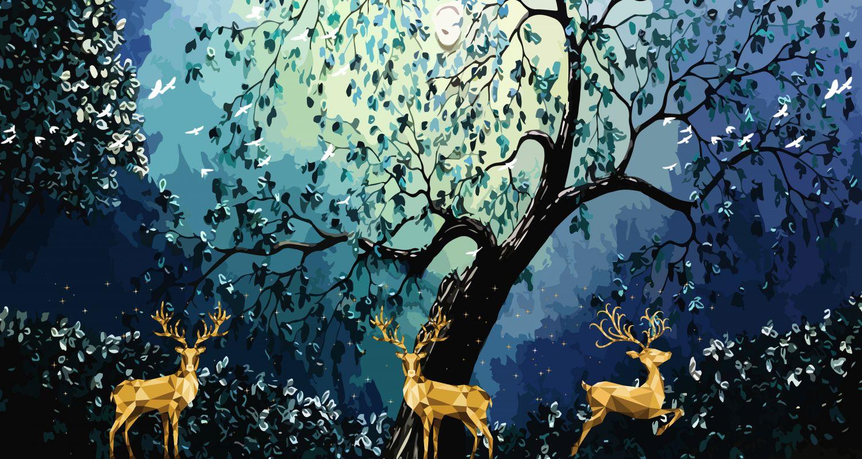 Фотообои «Ночь в лесу»