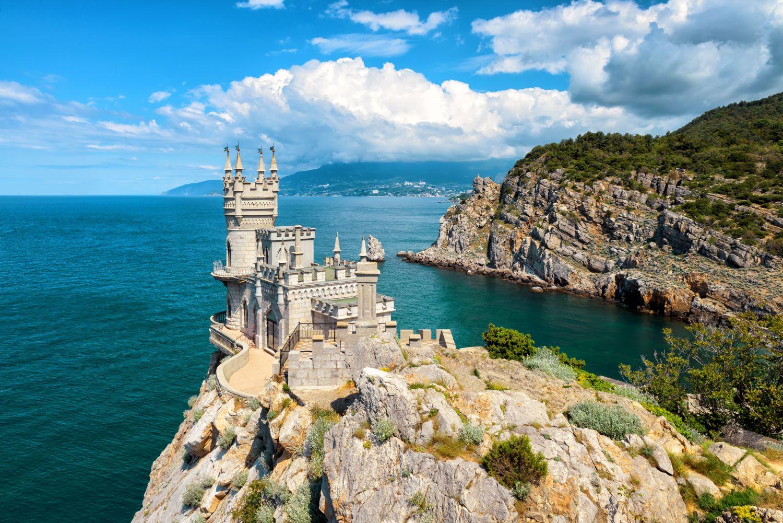 Фотообои «Панорама в Крыму с Ласточкиным гнездом»