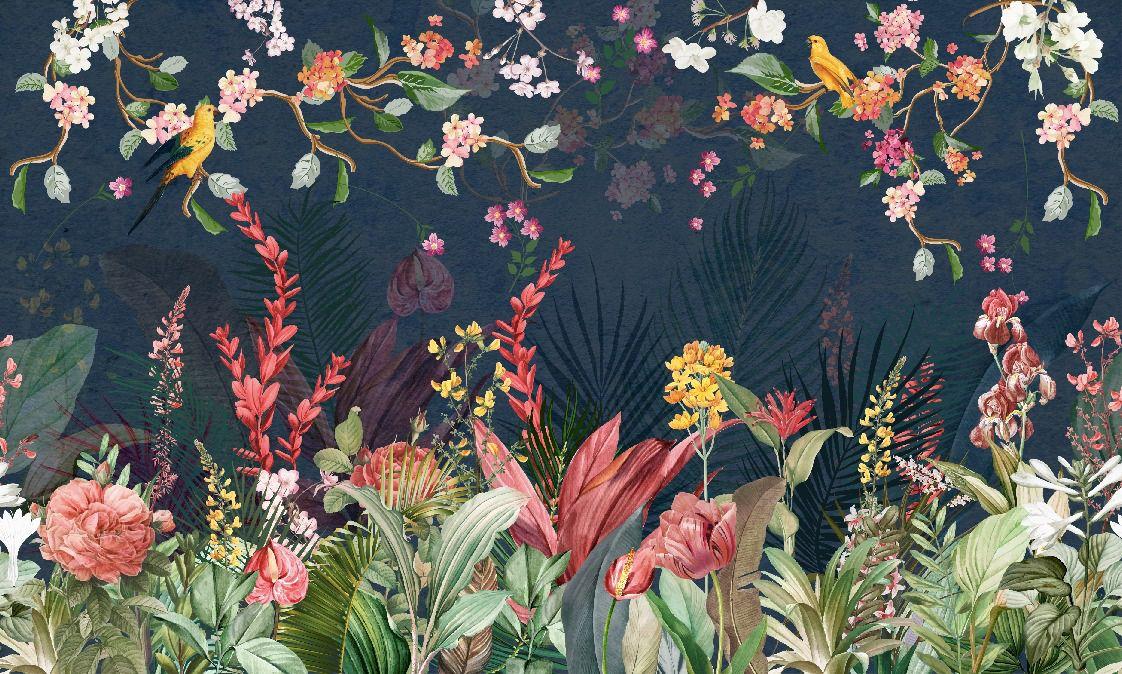 Фрески «Экзотические цветы»