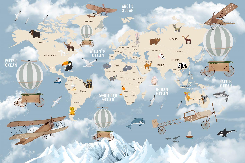 Фрески «детская карта мира»