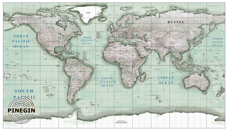 Фотообои «Карта»