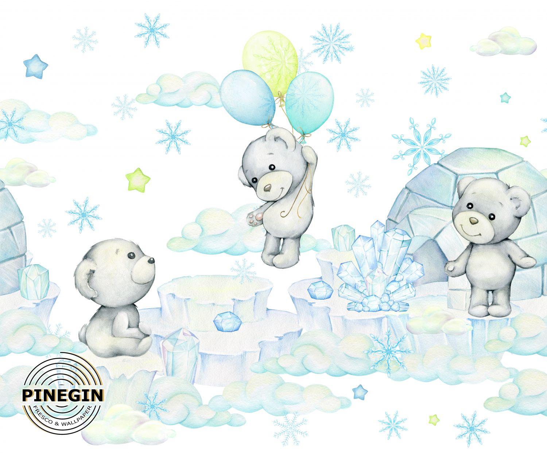 Фрески «Мишки на льдине»