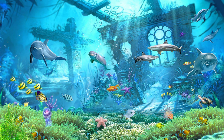 Фрески «Рыбки и затонувший город»