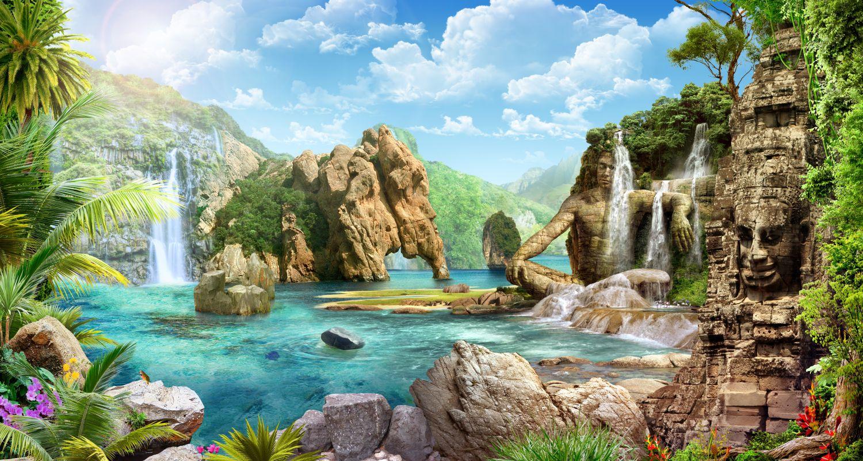 Фотообои «Скалы и море»
