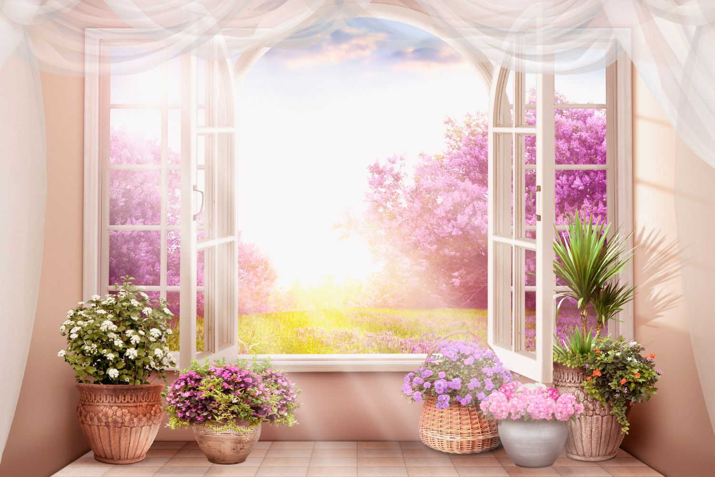 Фотообои «Вид на цветущий сад»