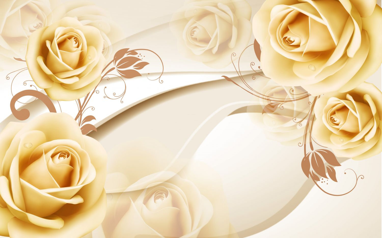 Фотообои «Белые розы 3»