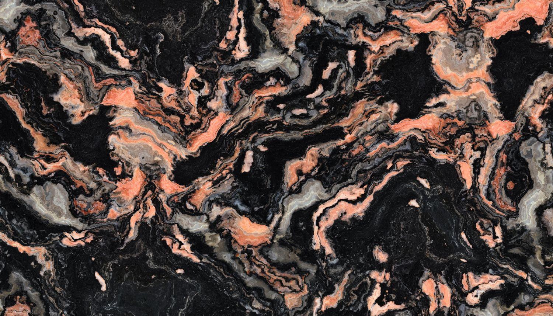 Фотообои «Благородный черный мрамор с клубникой»