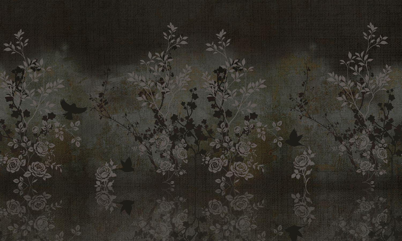 Фотообои «Шинуазри винтажный сад ночью»