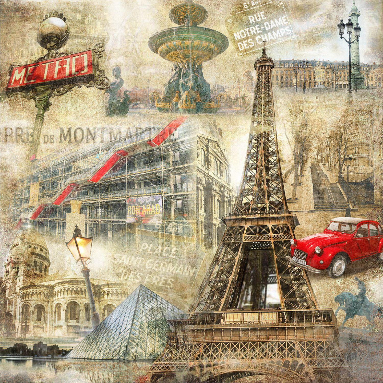 Фотообои «Достопримечательности Парижа»
