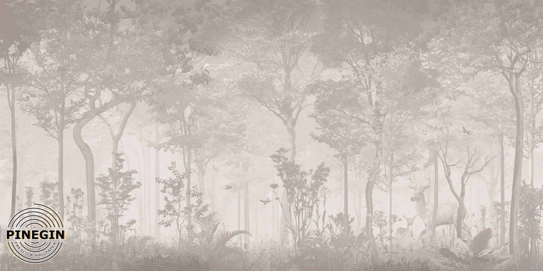 Фотообои «Бежевый лес»