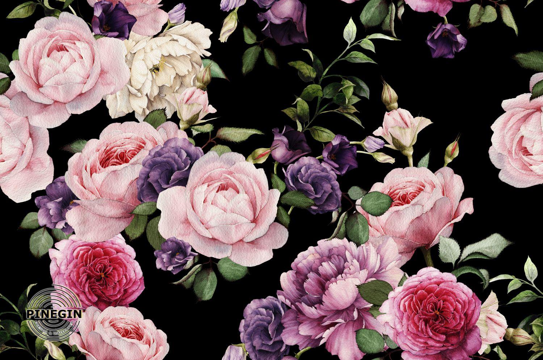 Фотообои «Яркий розовый букет»